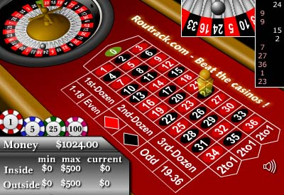 Routrack - Free Roulette Game - Click for fullscreen